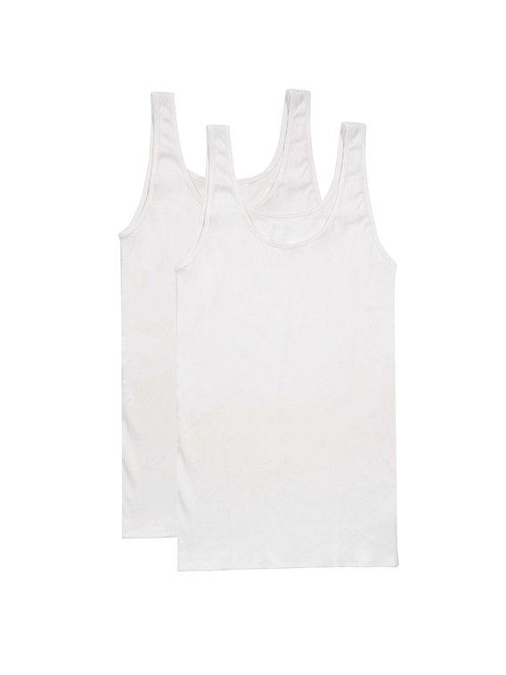 NINA VON C. Fine Cotton - Organic Top ohne Arm, 2er Pack