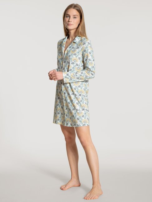 CALIDA Cosy Nights Sleepshirt durchgeknöpft, Länge 90cm