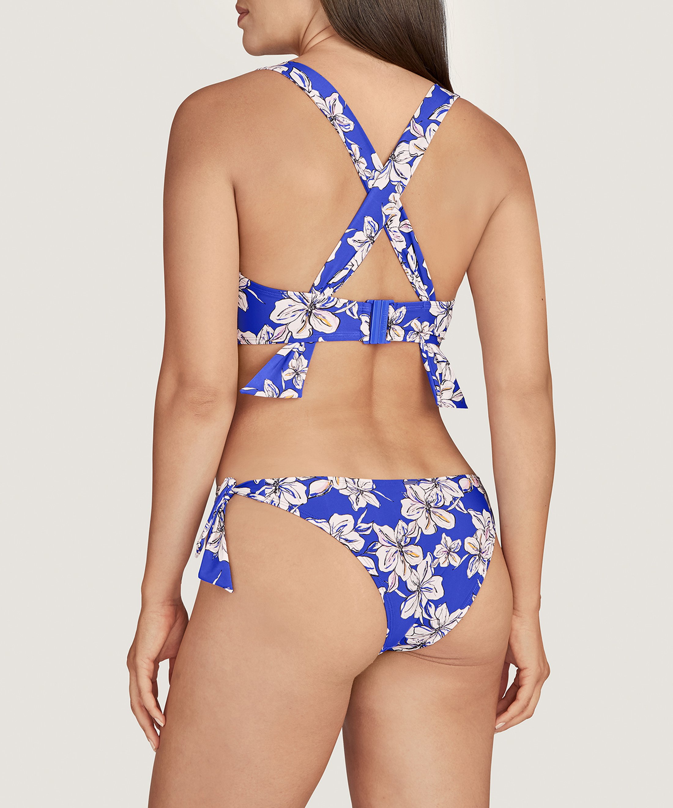 PARFUMS D'ÉTÉ Triangle bikini top Floral Glycine Blue | Aubade