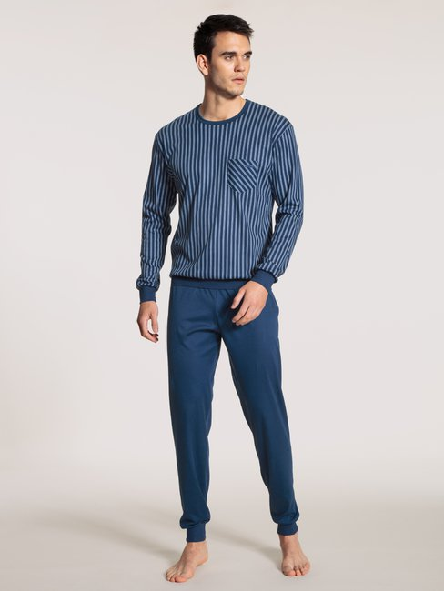 CALIDA Relax Streamline Pyjama avec bords élastiques