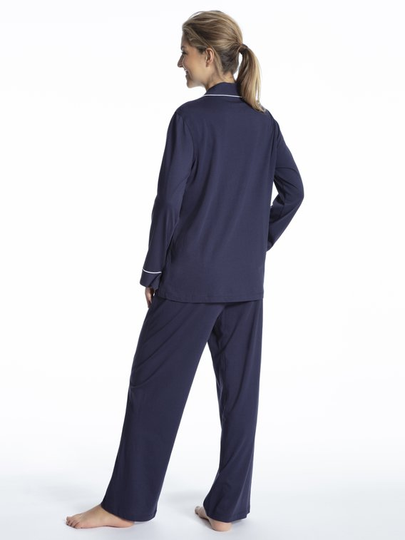 LAUREN BY RALPH LAUREN Hammond Knits Jersey-Pyjama geknöpft