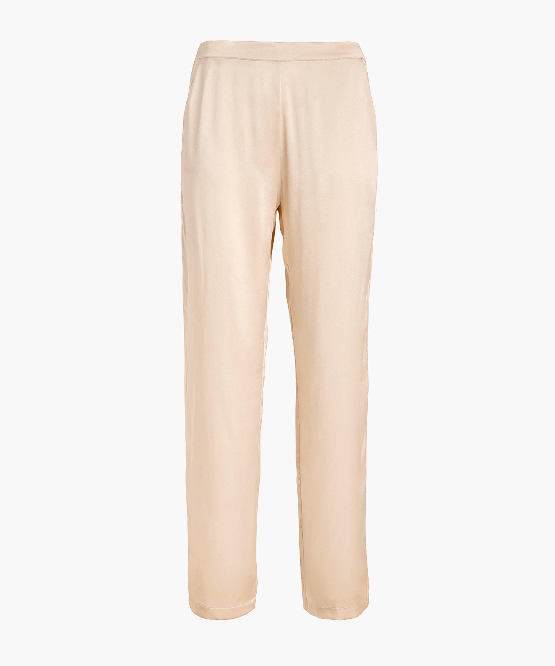 TOI MON AMOUR Pantalon en soie Blond nacre | Aubade