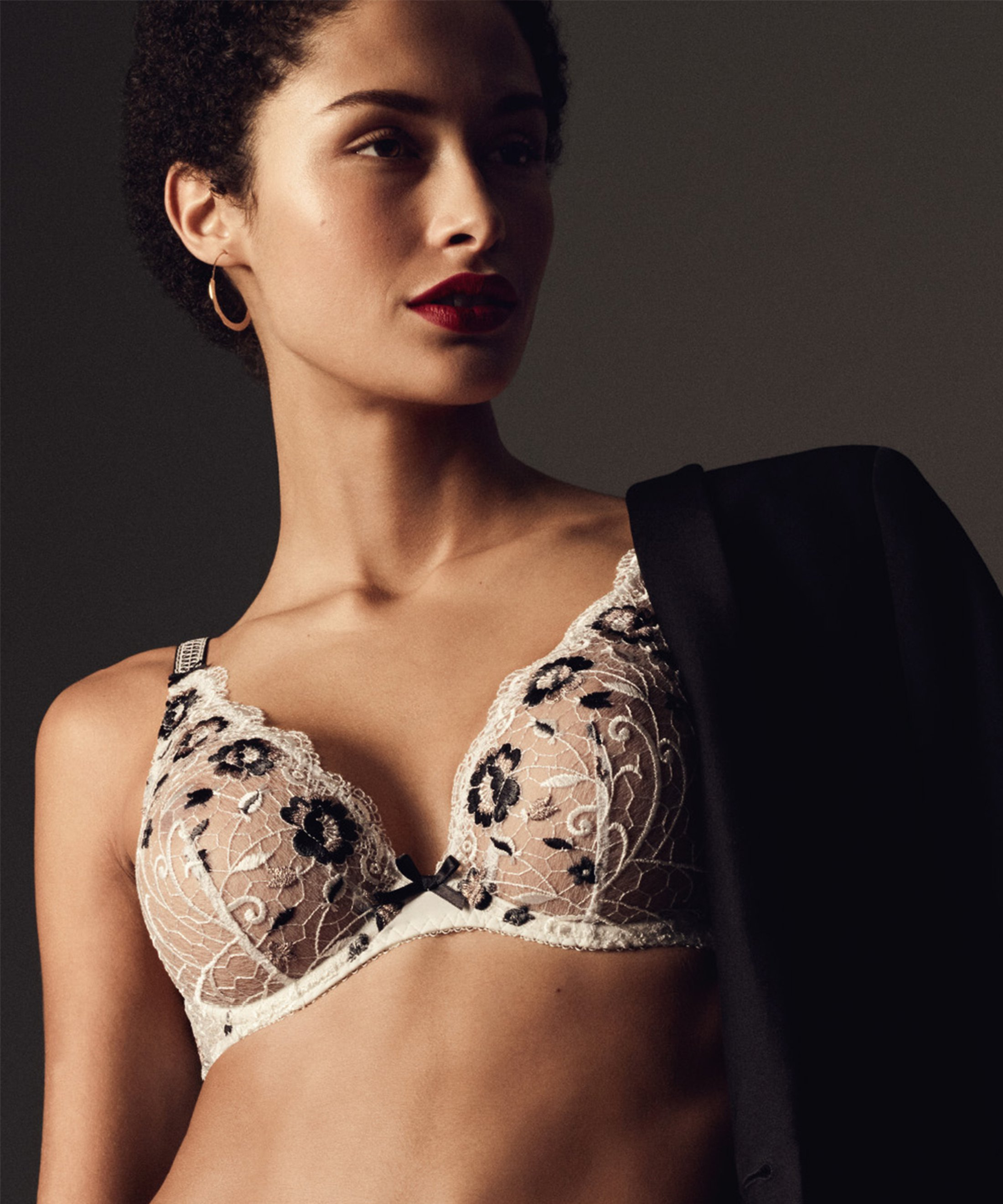 FIÈVRE ANDALOUSE Triangel Push-Up BH Bohème Weiß | Aubade