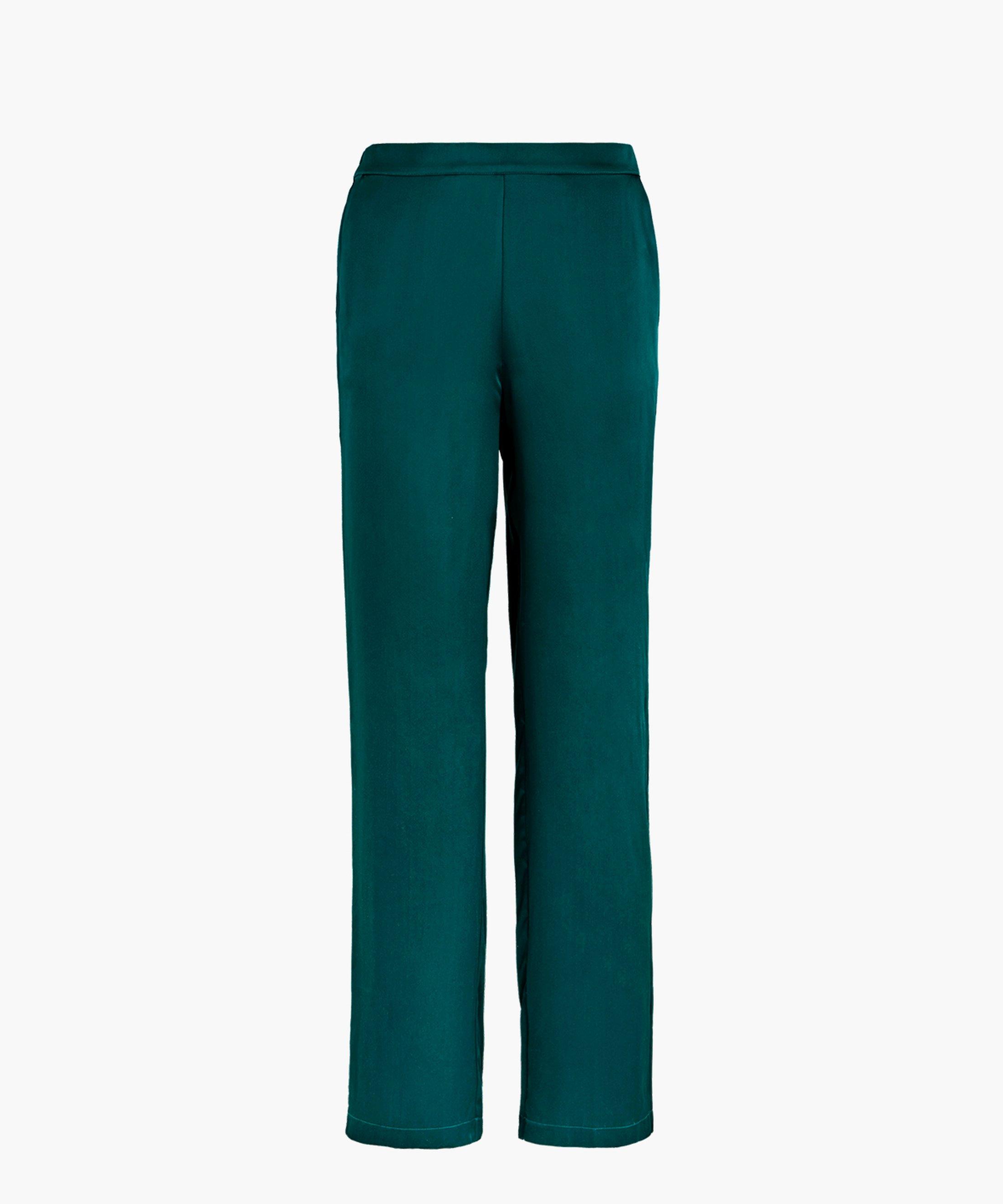 TOI MON AMOUR Pantalon en soie Emeraude | Aubade
