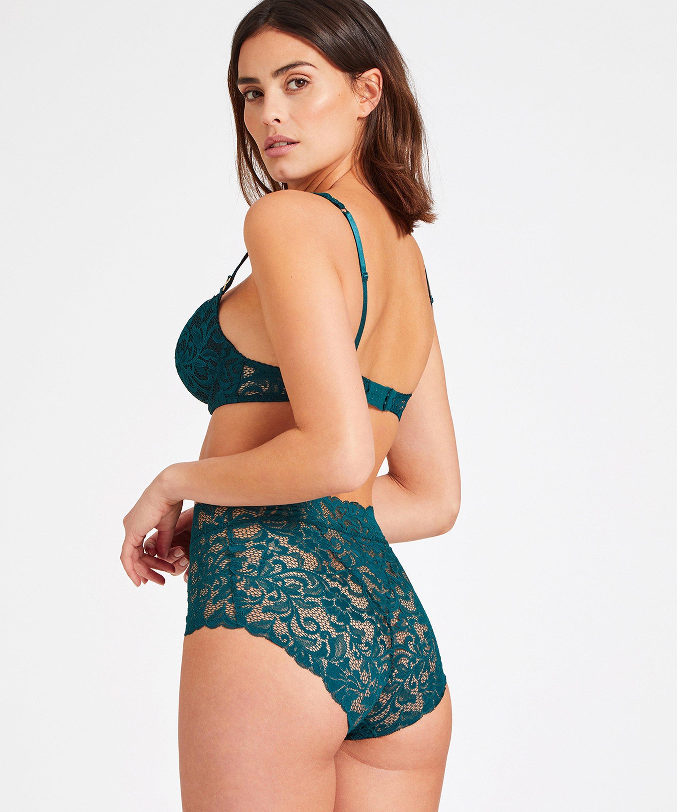 MON BIJOU High-waist brief Green Emeraude | Aubade