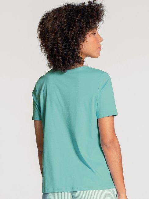 CALIDA Favourites Ornament Kurzarm-Shirt, V-Neck