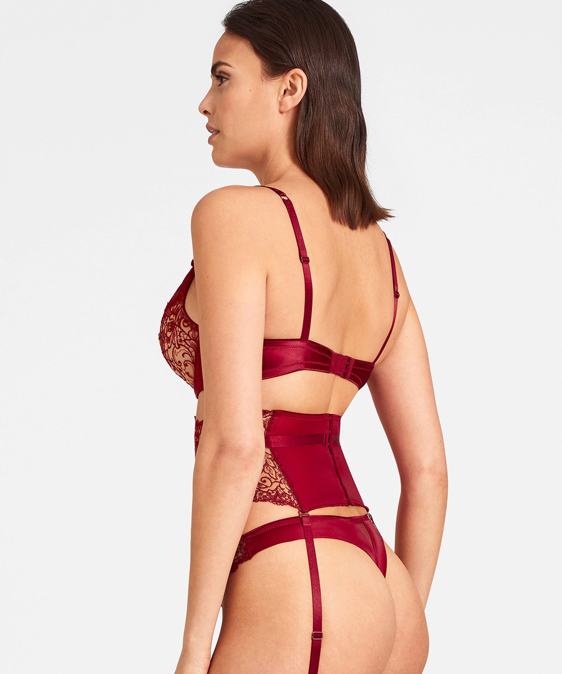 KARL LAGERFELD X AUBADE Serre-taille Rouge Rubis  | Aubade