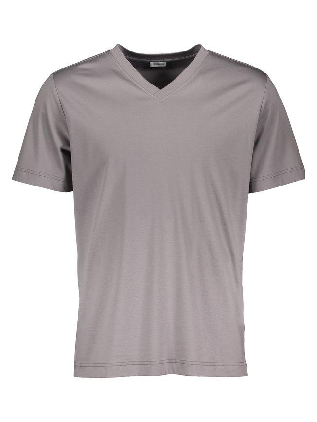 ZIMMERLI Supreme Green Cotton New Kurzarm-Shirt, V-Neck