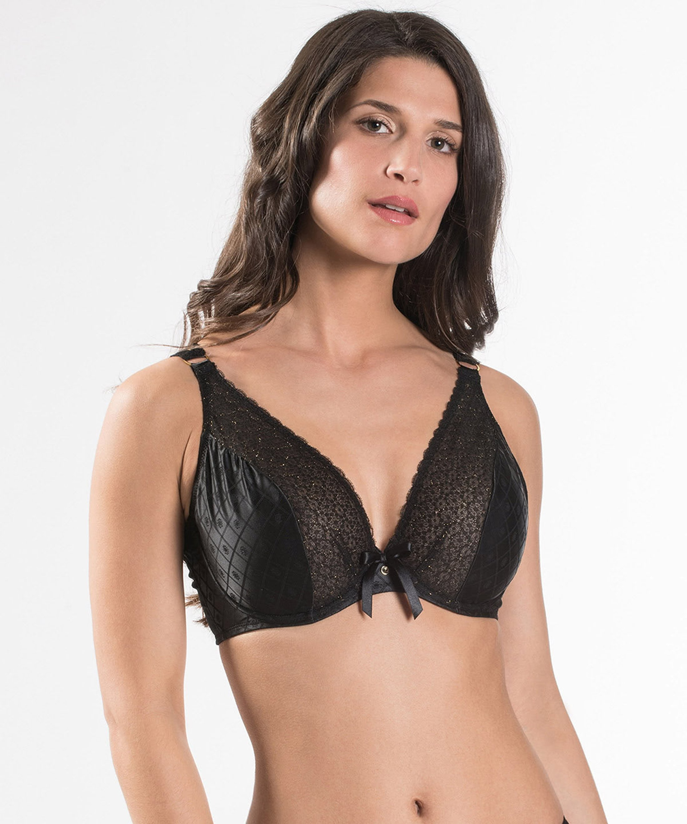 FEMME AUBADE Comfort triangle plunge bra Black | Aubade