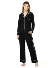 DKNY New Signature Jersey-Schlafanzug, geknöpft