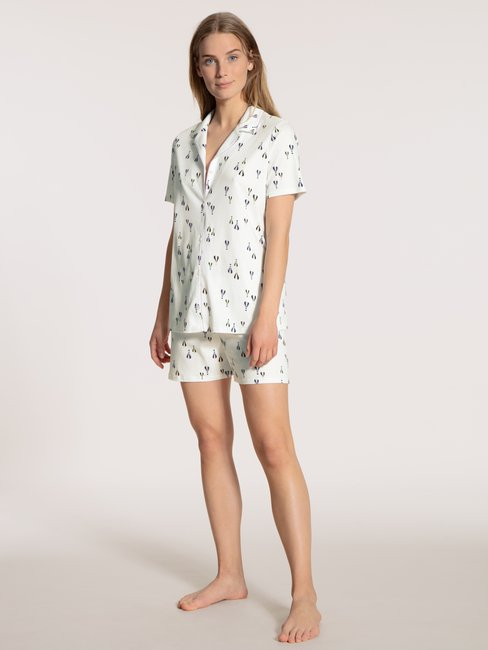 CALIDA Balloon Nights Kurz-Pyjama, durchgeknöpft