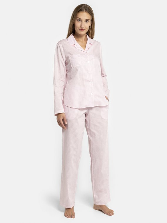 SEIDENSTICKER Minimal Pyjama, durchgeknöpft