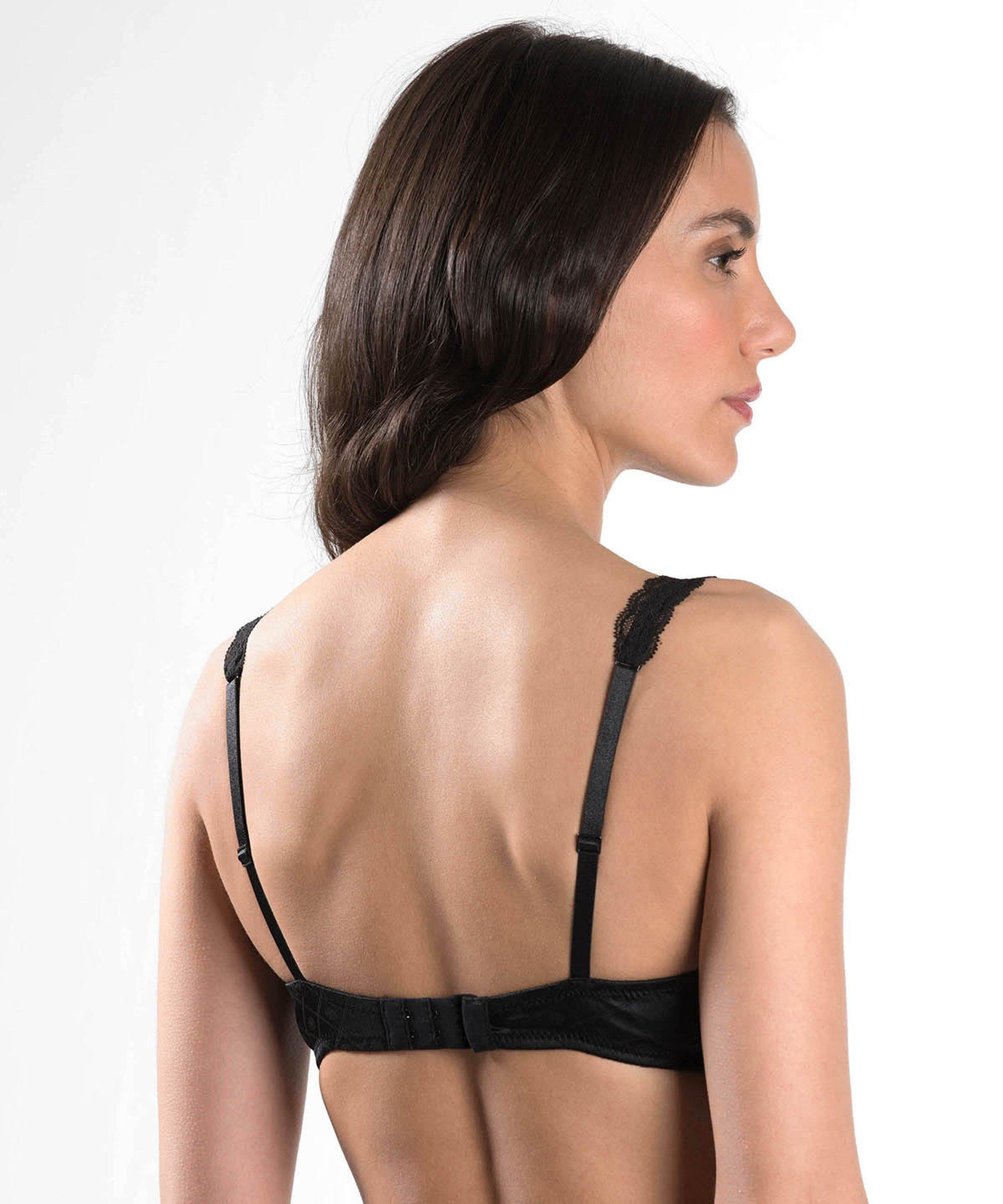 FEMME AUBADE Triangle plunge bra Black | Aubade
