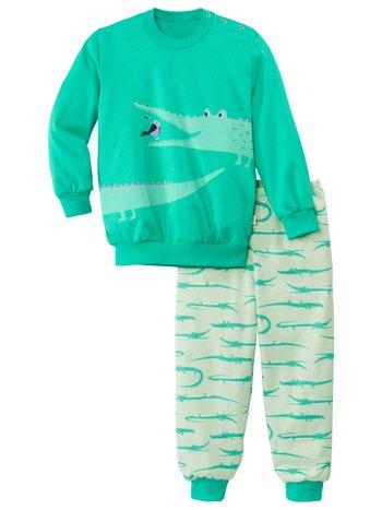 CALIDA Toddlers Crocodile Kinder Bündchen-Pyjama