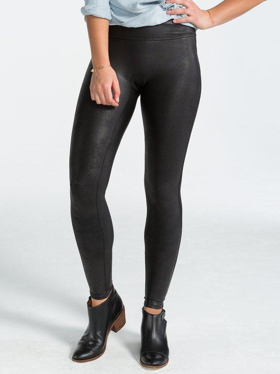 SPANX Leggings Shaping Kunst-Leder Leggings