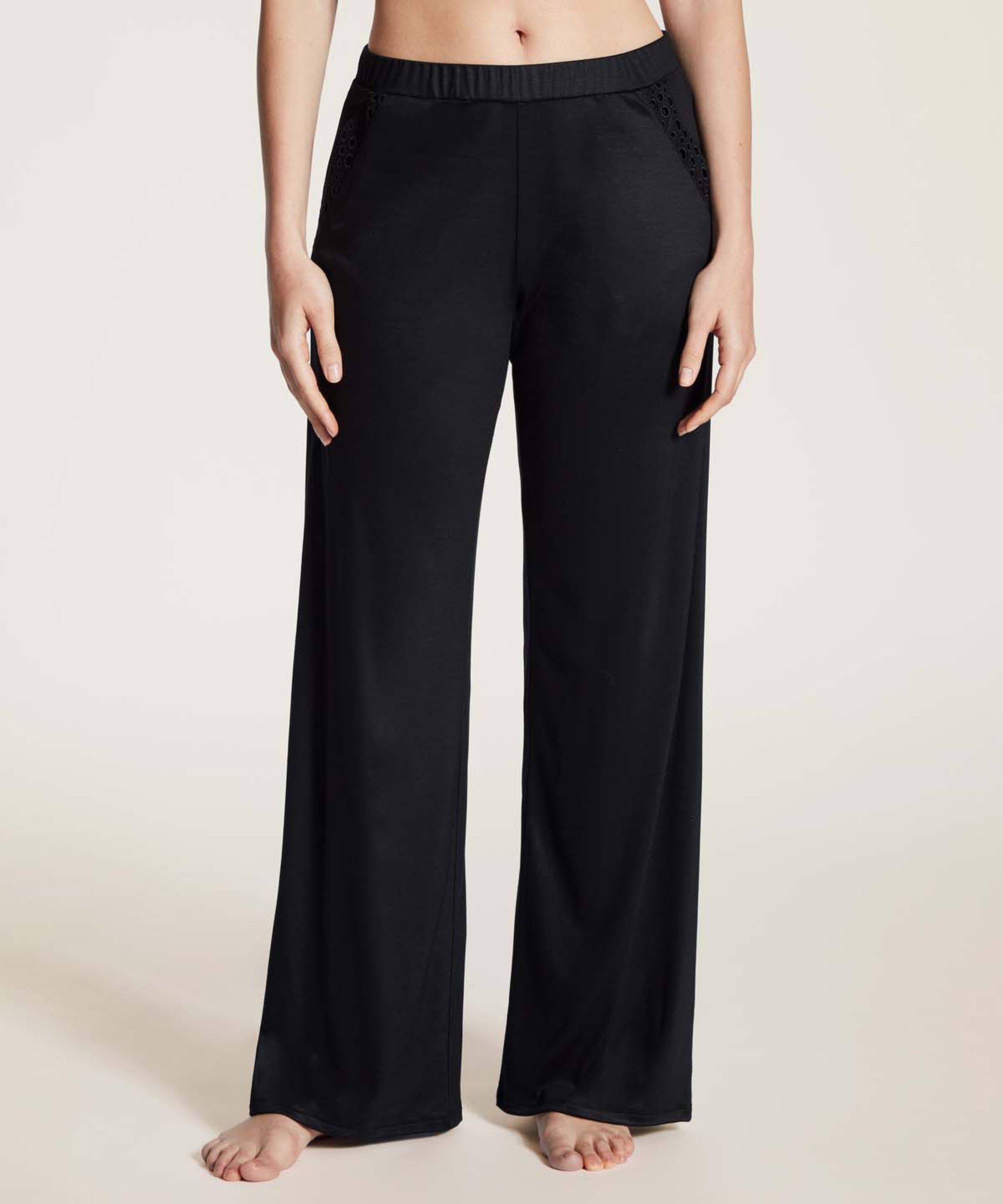 BULLE DE DOUCEUR Pantalon en Tencel Noir | Aubade