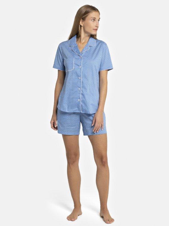 SEIDENSTICKER Minimal Kurz-Pyjama, durchgeknöpft