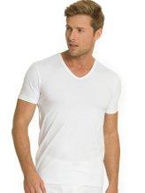 MEY Dry Cotton T-Shirt mit V-Neck im Doppelpack