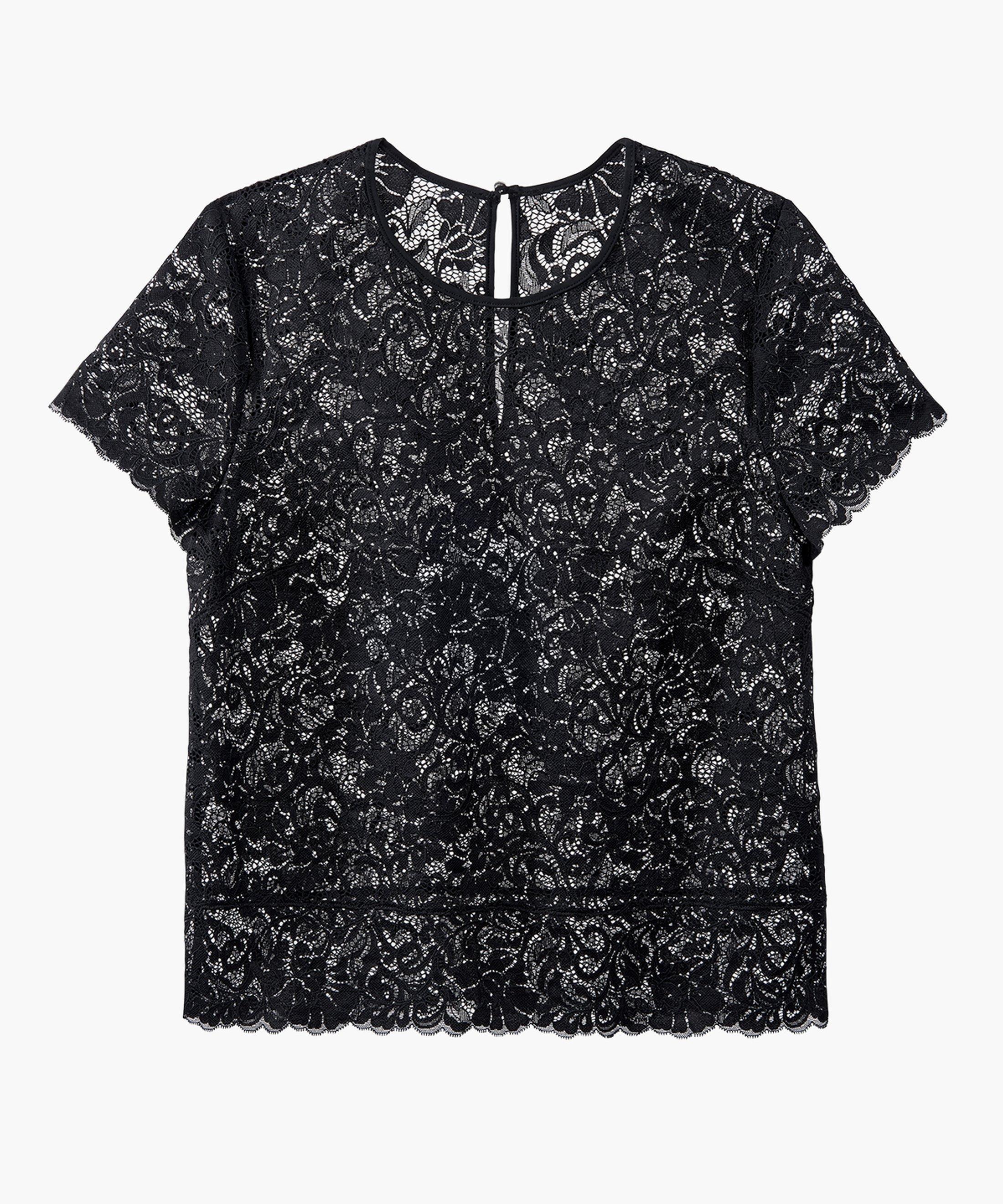 MON BIJOU Short sleeves top Black Perle | Aubade