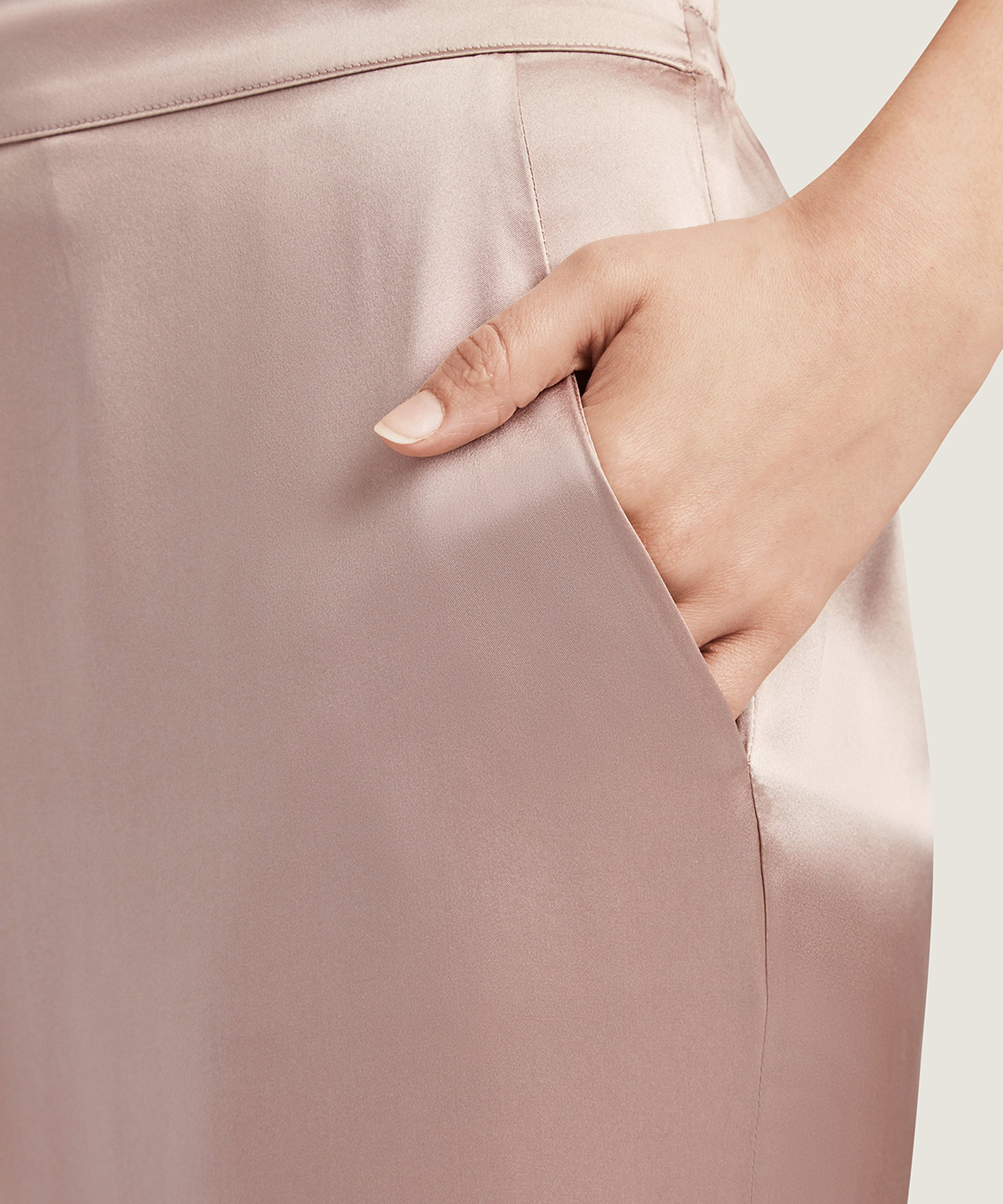 TOI MON AMOUR Pantalon en soie Rose Sonate | Aubade