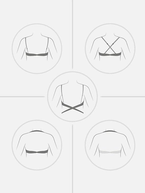 WONDERBRA Multiplunge Everyday Wunder-Multiway Push Up BH, transparenter Mittelsteg