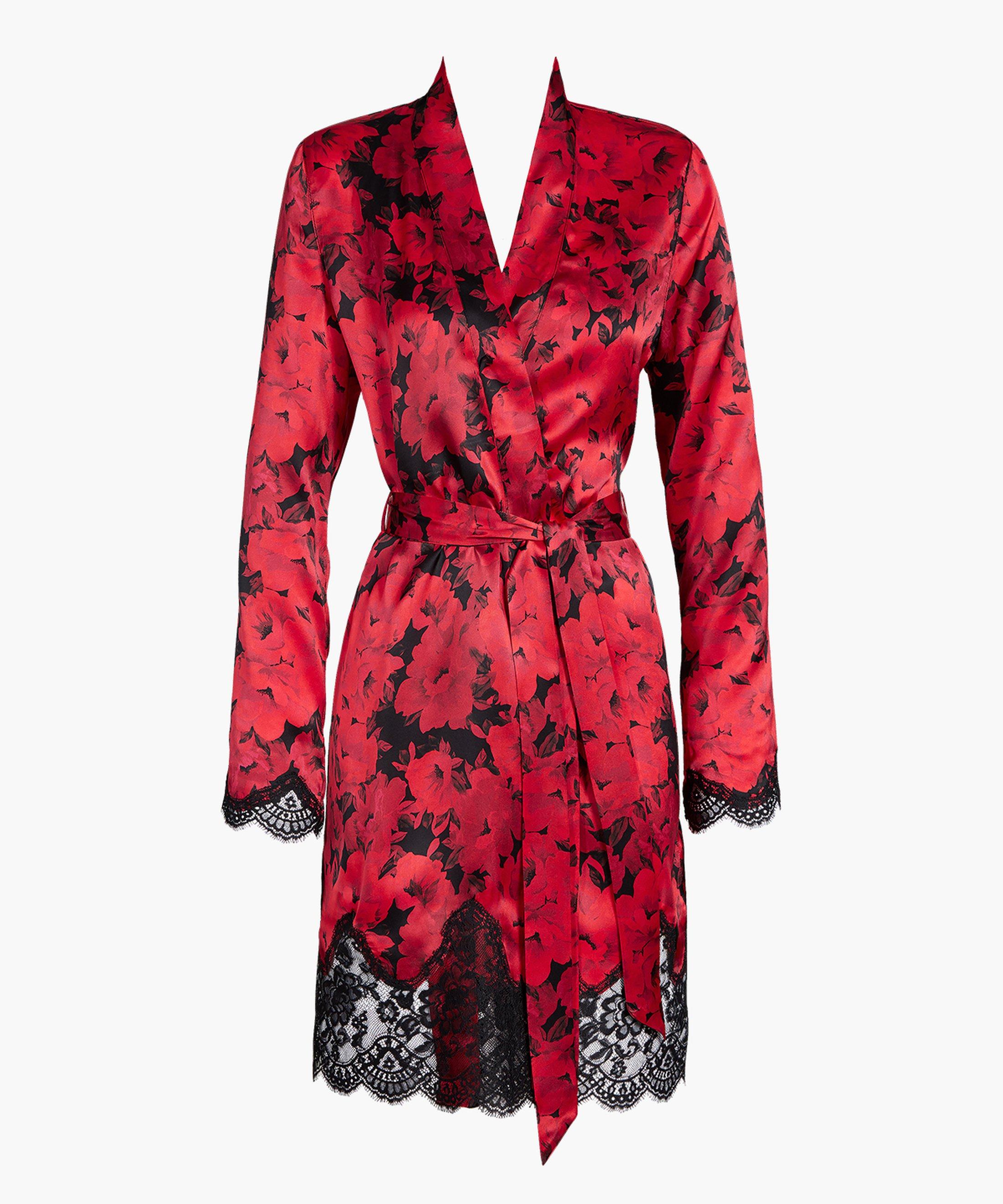 TOI MON AMOUR Kimono en soie Rouge Opéra   Aubade