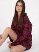 TRIUMPH Lounge-Me Cotton Langarm-Nachthemd, Boyfriend-Schnitt, Länge 90cm