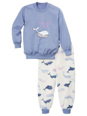 CALIDA Toddlers Whale Kinder Bündchen-Pyjama