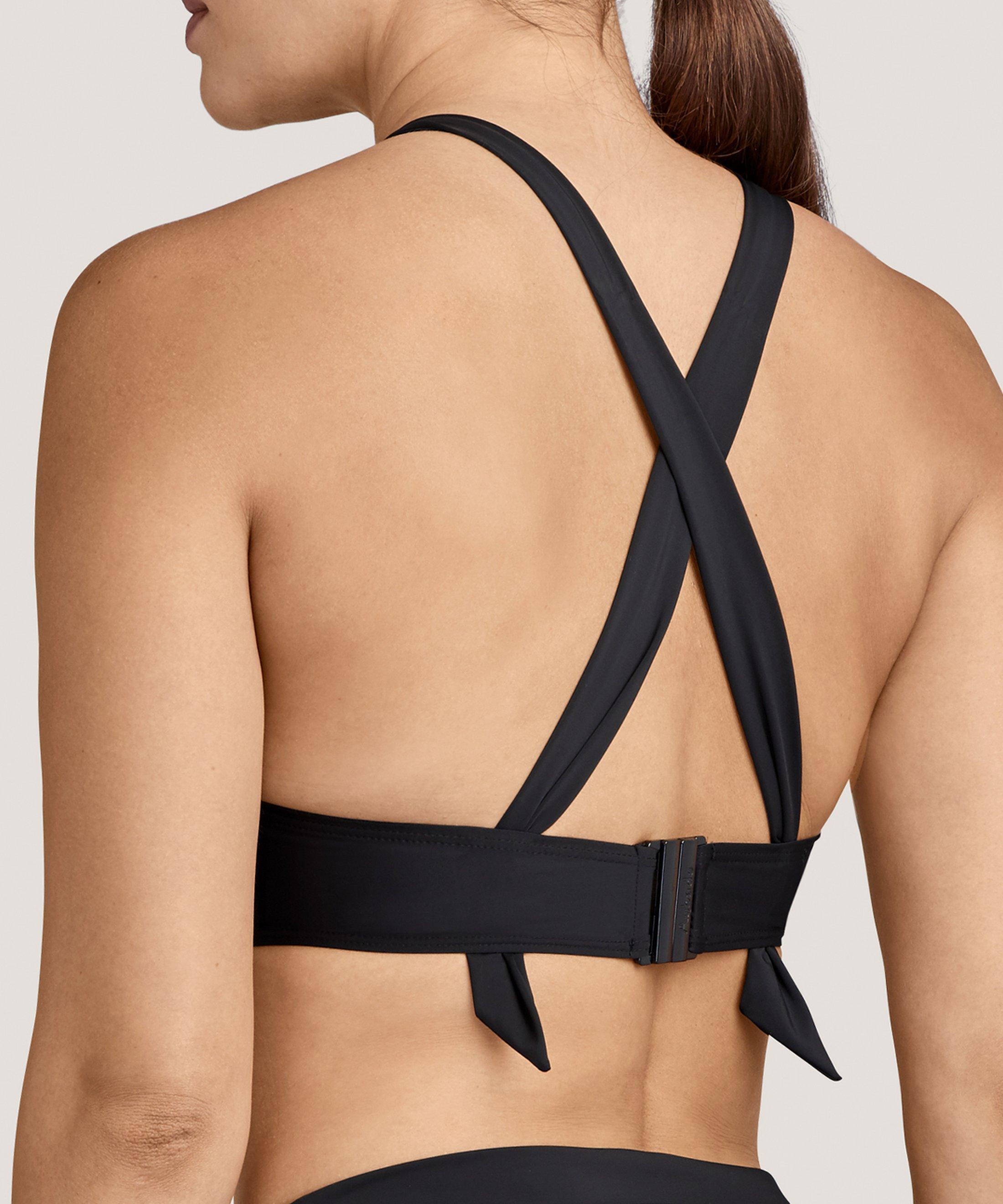 LA PLAGE ENSOLEILLÉE Moulded push-up bikini top Black | Aubade
