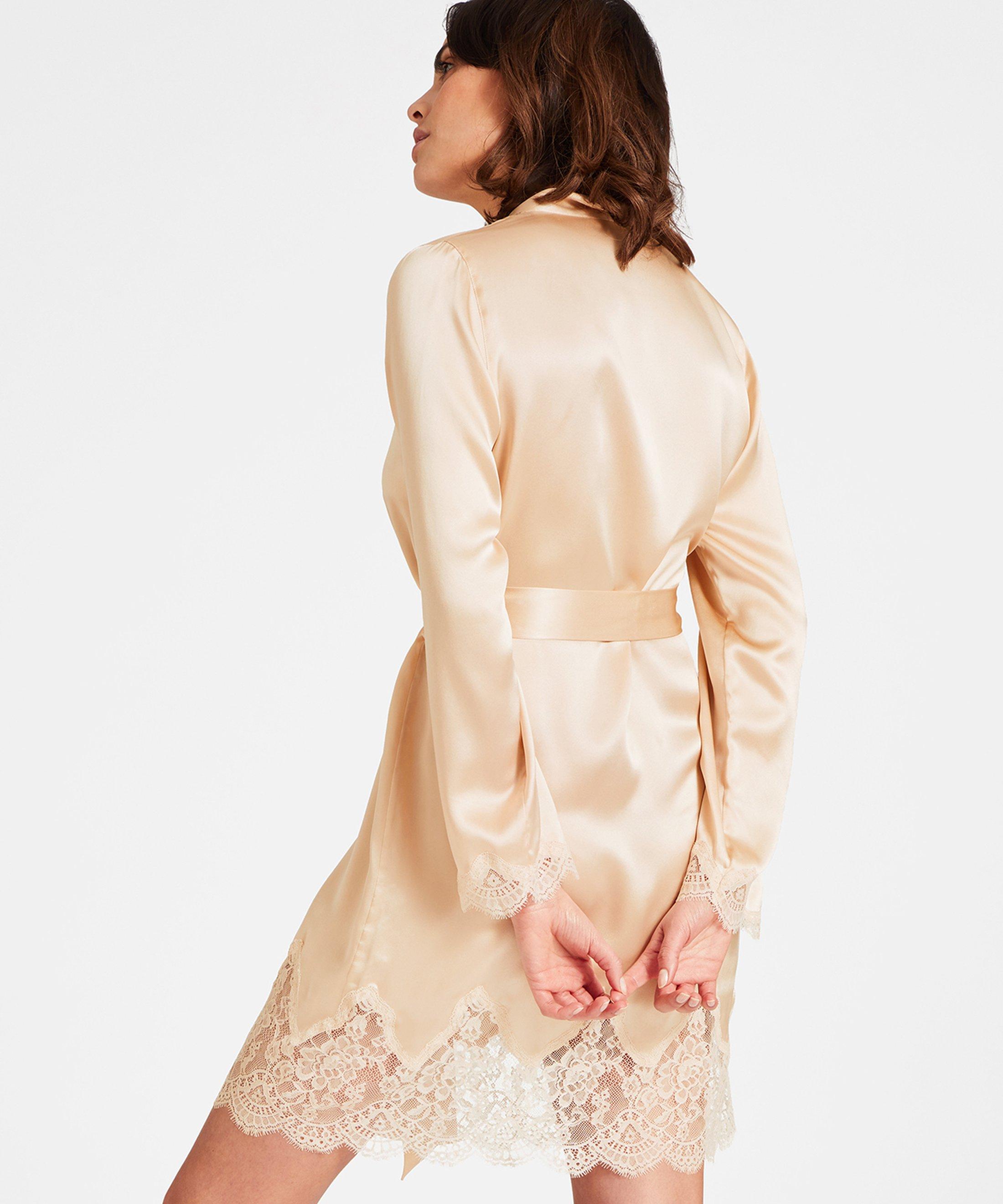 TOI MON AMOUR Kimono en soie Blond nacre | Aubade
