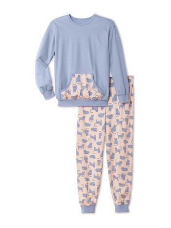 CALIDA Girls Cats Mädchen Bündchen-Pyjama