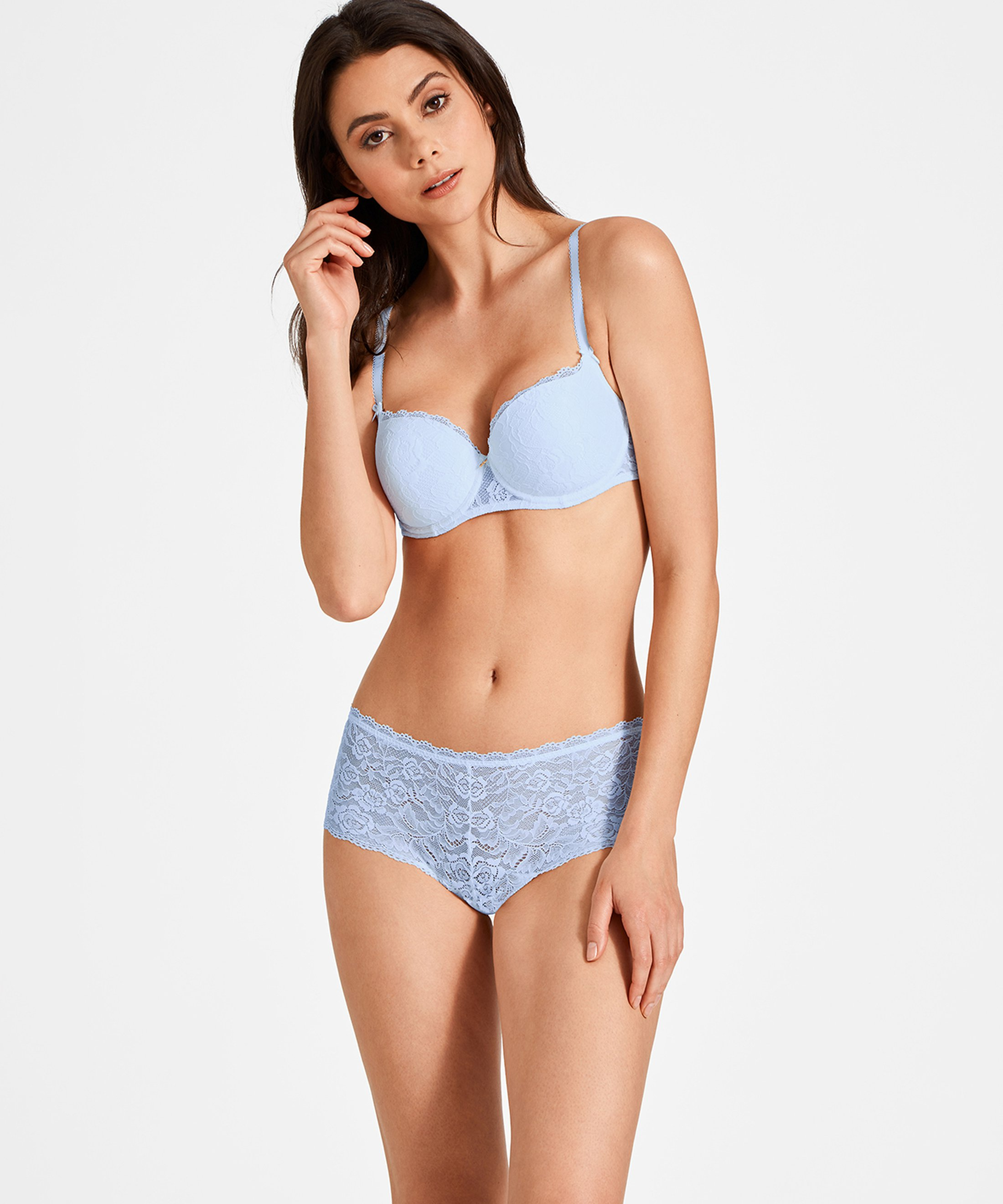 ROSESSENCE Shorty St-Tropez Powder Blue | Aubade