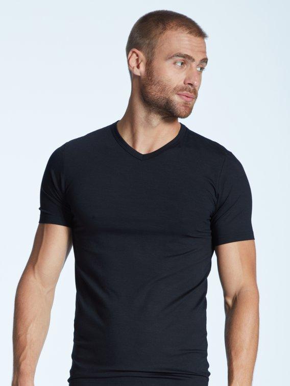 ZIMMERLI Pureness Kurzarm-Shirt, V-Neck