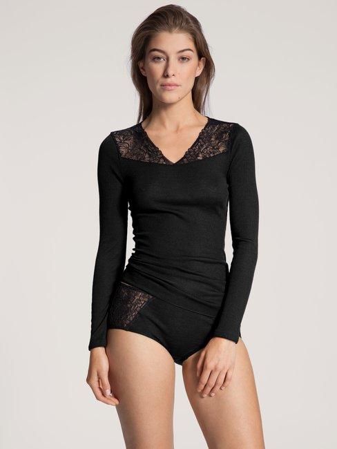 CALIDA Silky Wool Glam Shirt long sleeve