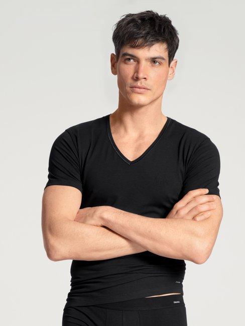 CALIDA Cotton Code T-Shirt, V-Neck