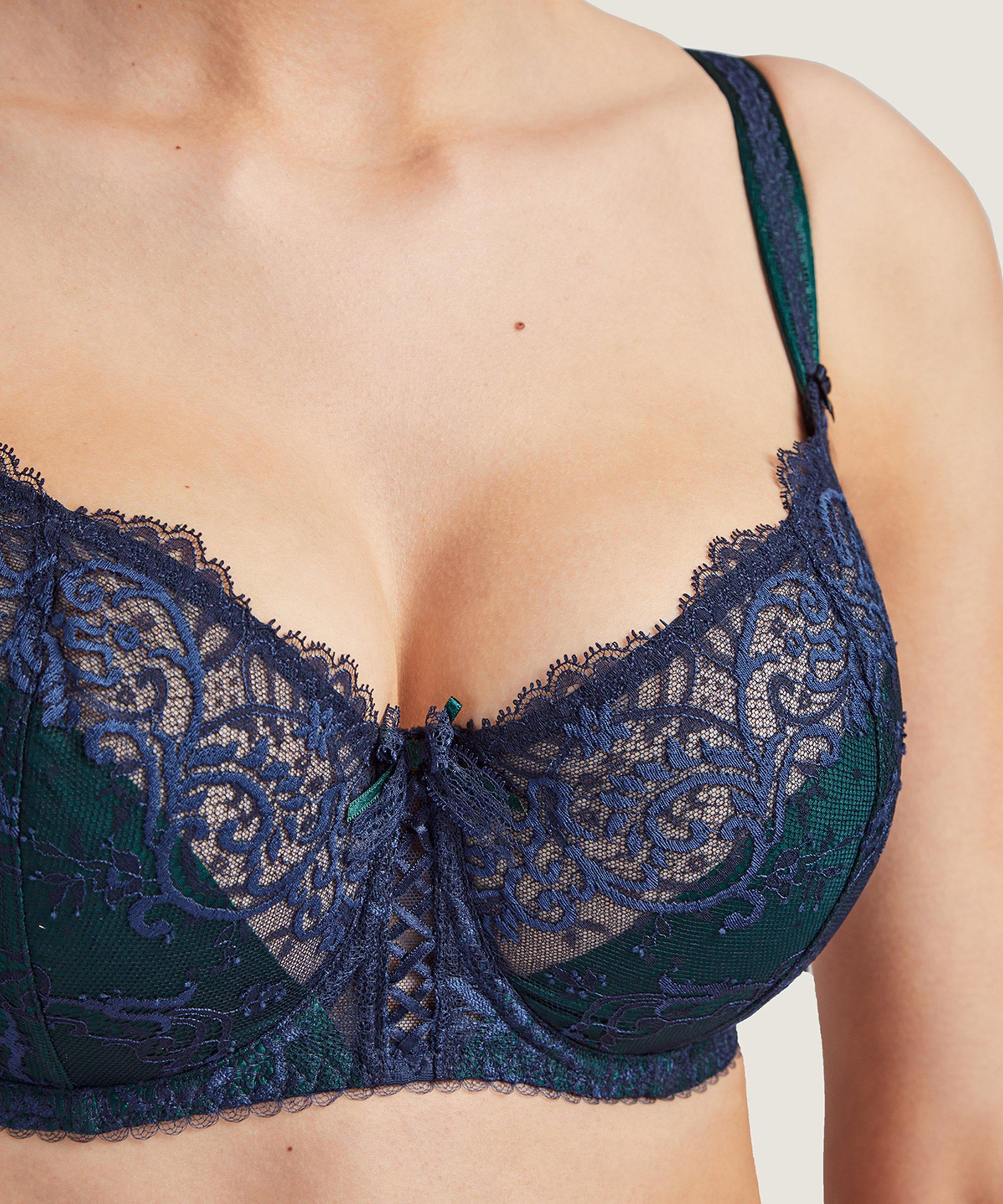 COURBES DIVINES Soutien-gorge corbeille confort Bleu Soprano | Aubade