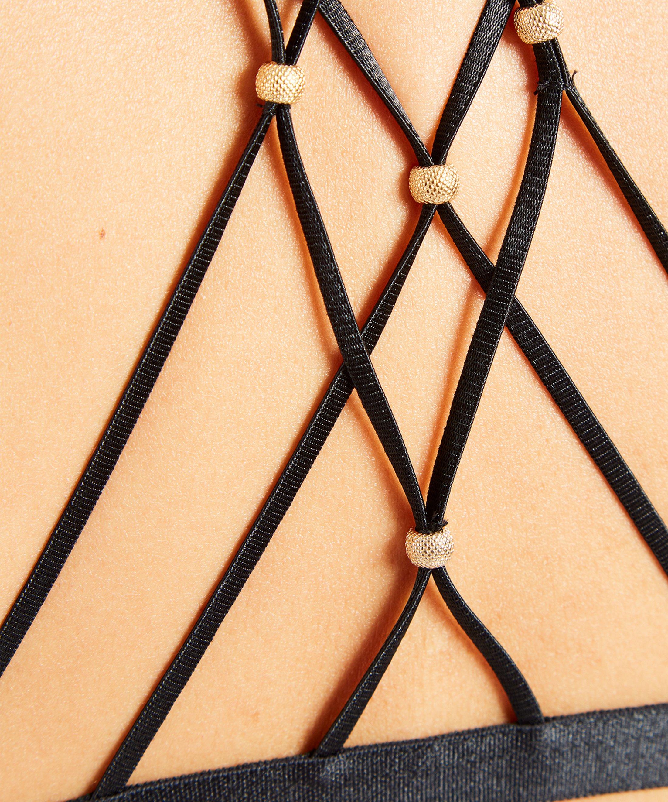 LA BELLE ÉTOILE Wireless triangle bra Onyx | Aubade