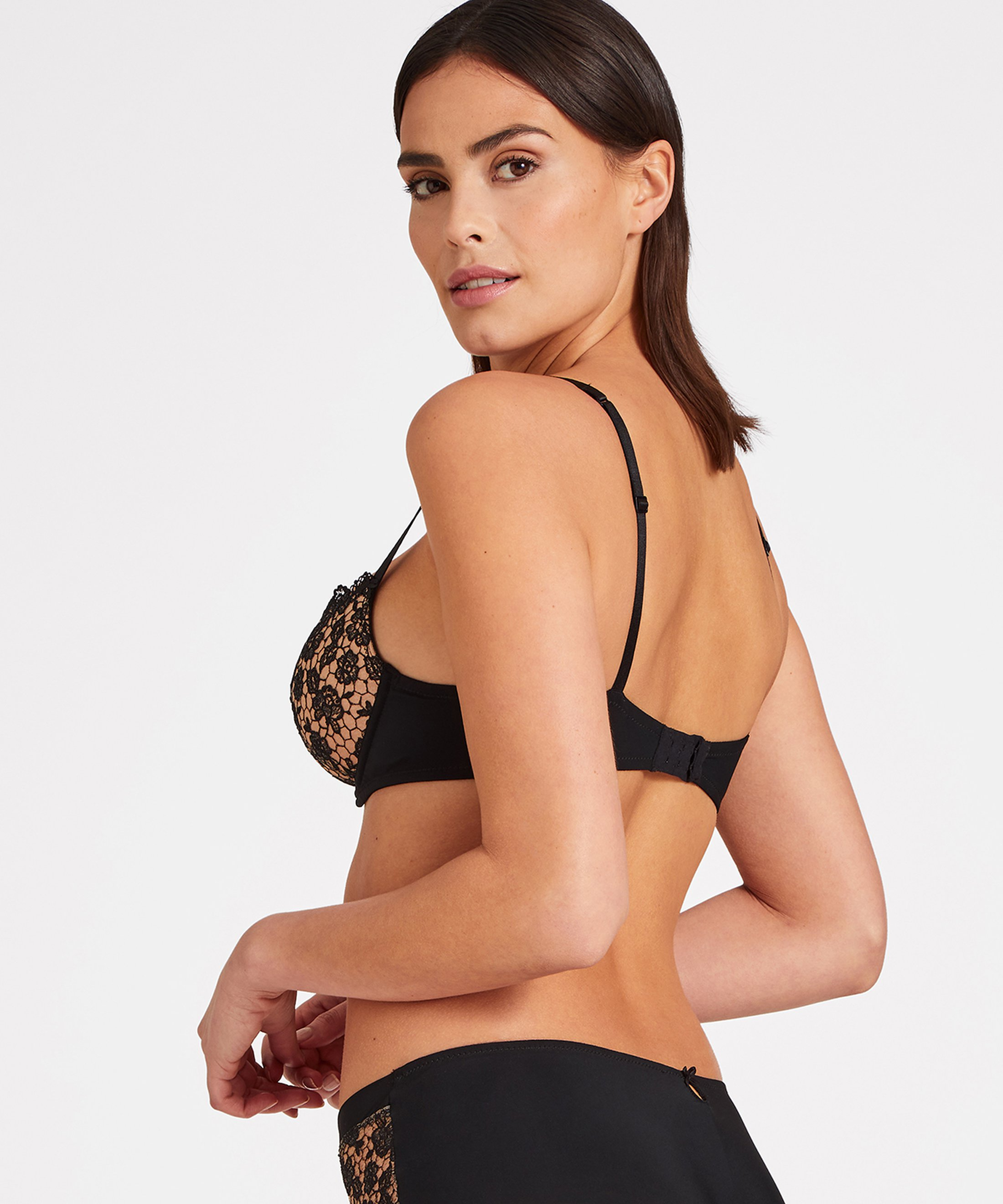 SECRET DE CHARME Moulded push-up bra Black | Aubade
