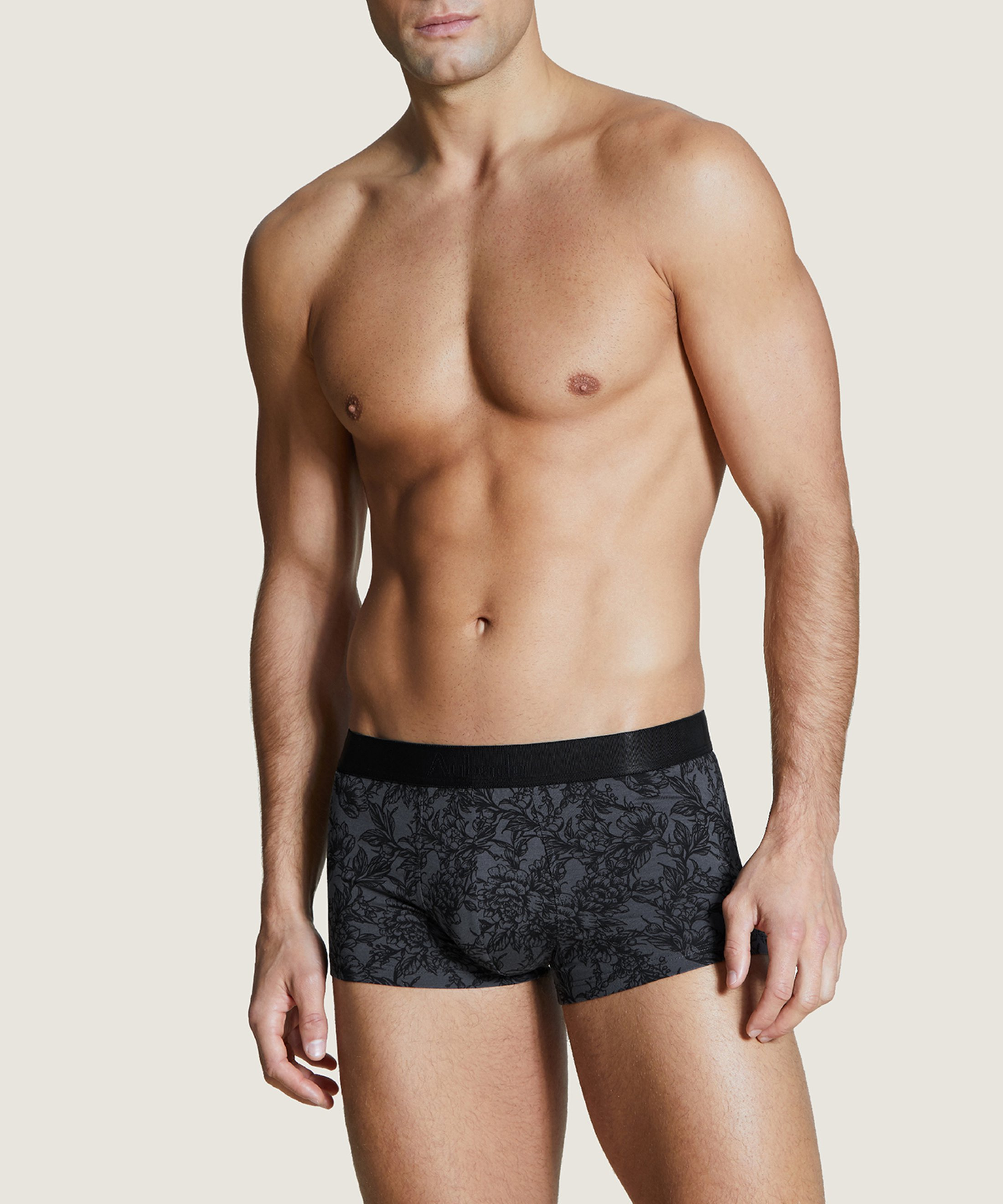 AUBADE HOMME Trunk boxer Grey Tattoo Flower | Aubade
