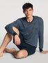 CALIDA Relax Streamline Basic Kurz-Pyjama mit langem Arm