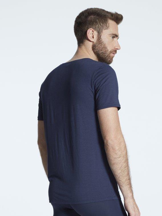 SKINY Bamboo Deluxe Kurzarm-Shirt, V-Ausschnitt