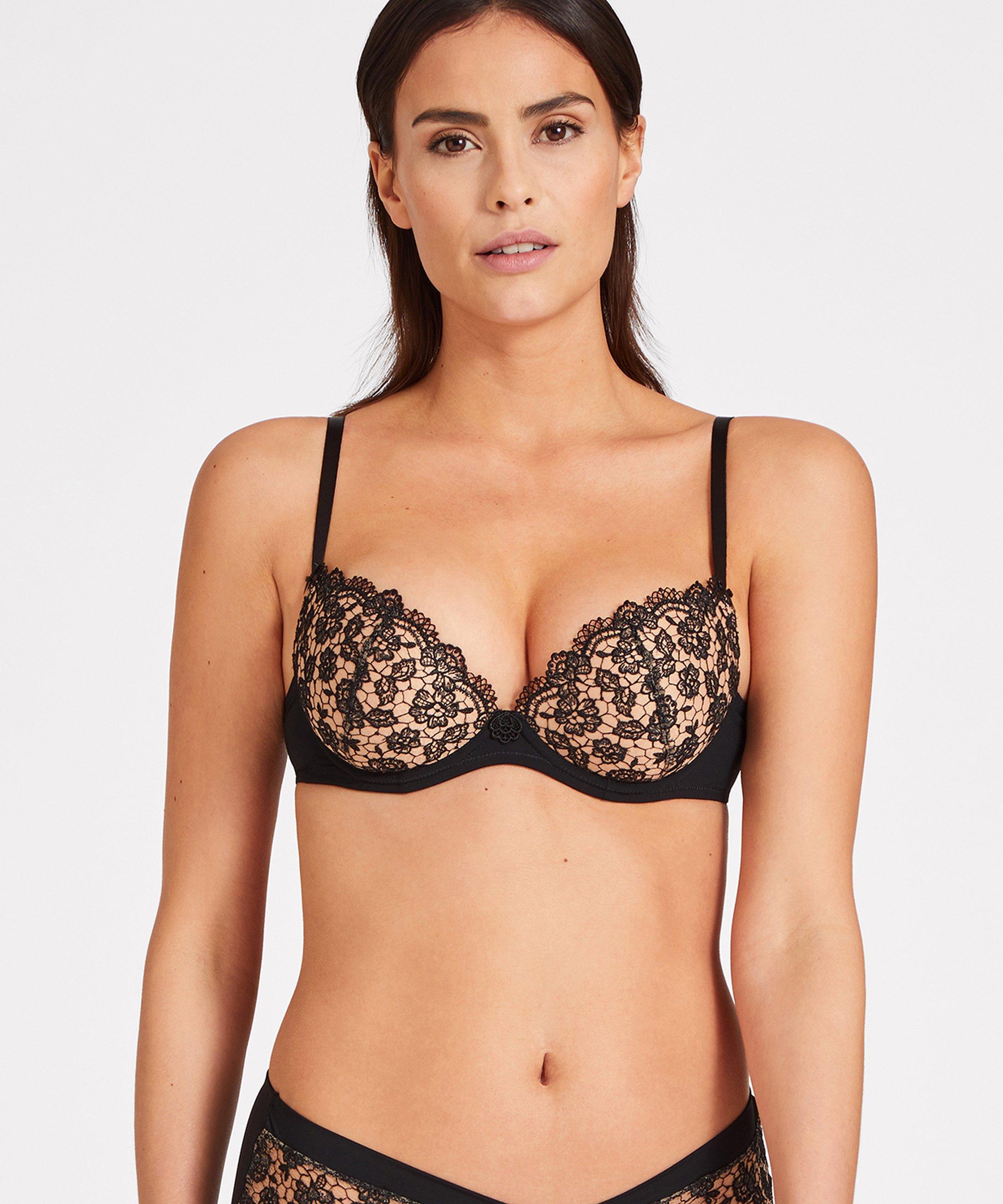 SECRET DE CHARME Moulded push-up bra Black | Aubade