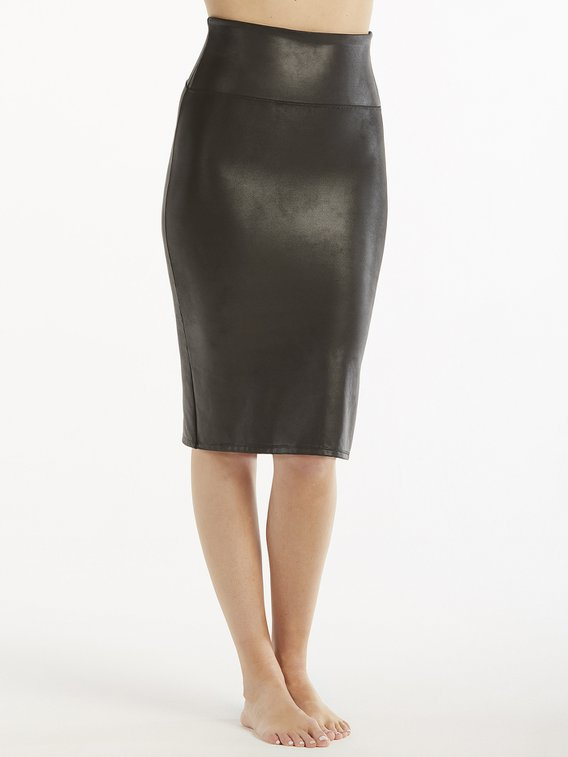 SPANX Faux Leather Kunstleder Bleistiftrock, Shaping