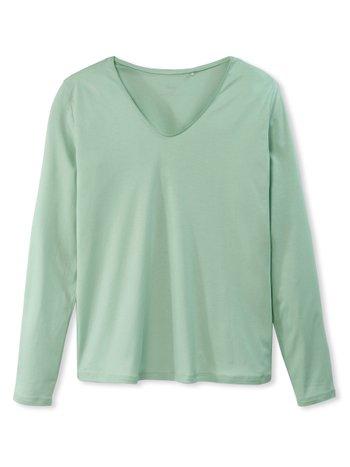 CALIDA Favourites Neutrals Langarm-Shirt, V-Neck