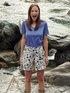 CALIDA Favourites Flowers Kurzarm-Shirt, V-Neck