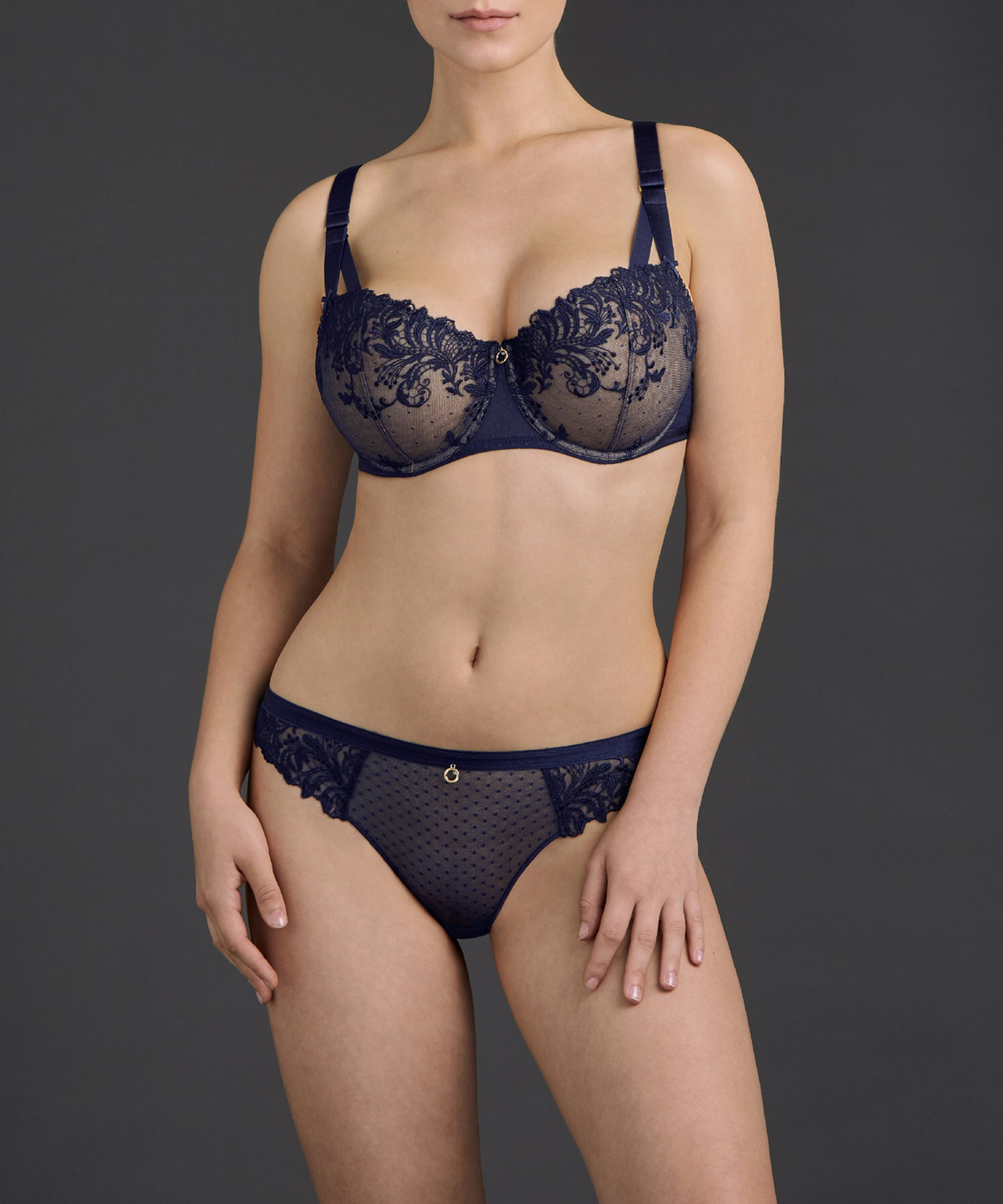 FEMME PASSION Soutien-gorge corbeille confort Bleu Crépuscule | Aubade