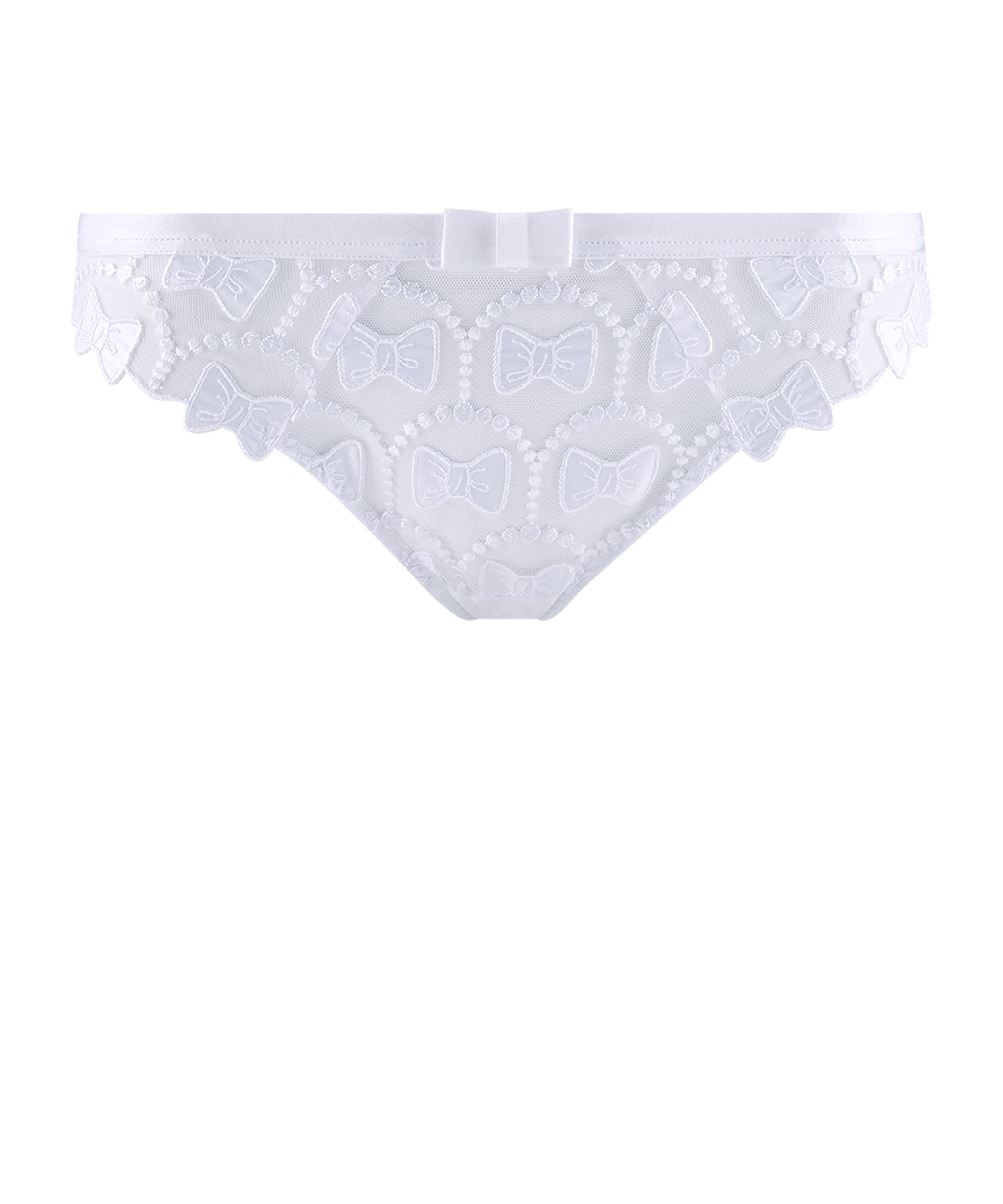 THE BOW COLLECTION Culotte Brésilienne Blanc | Aubade