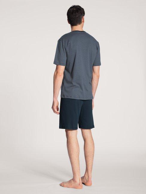 CALIDA Relax Streamline Basic Kurz-Pyjama mit Knopfleiste
