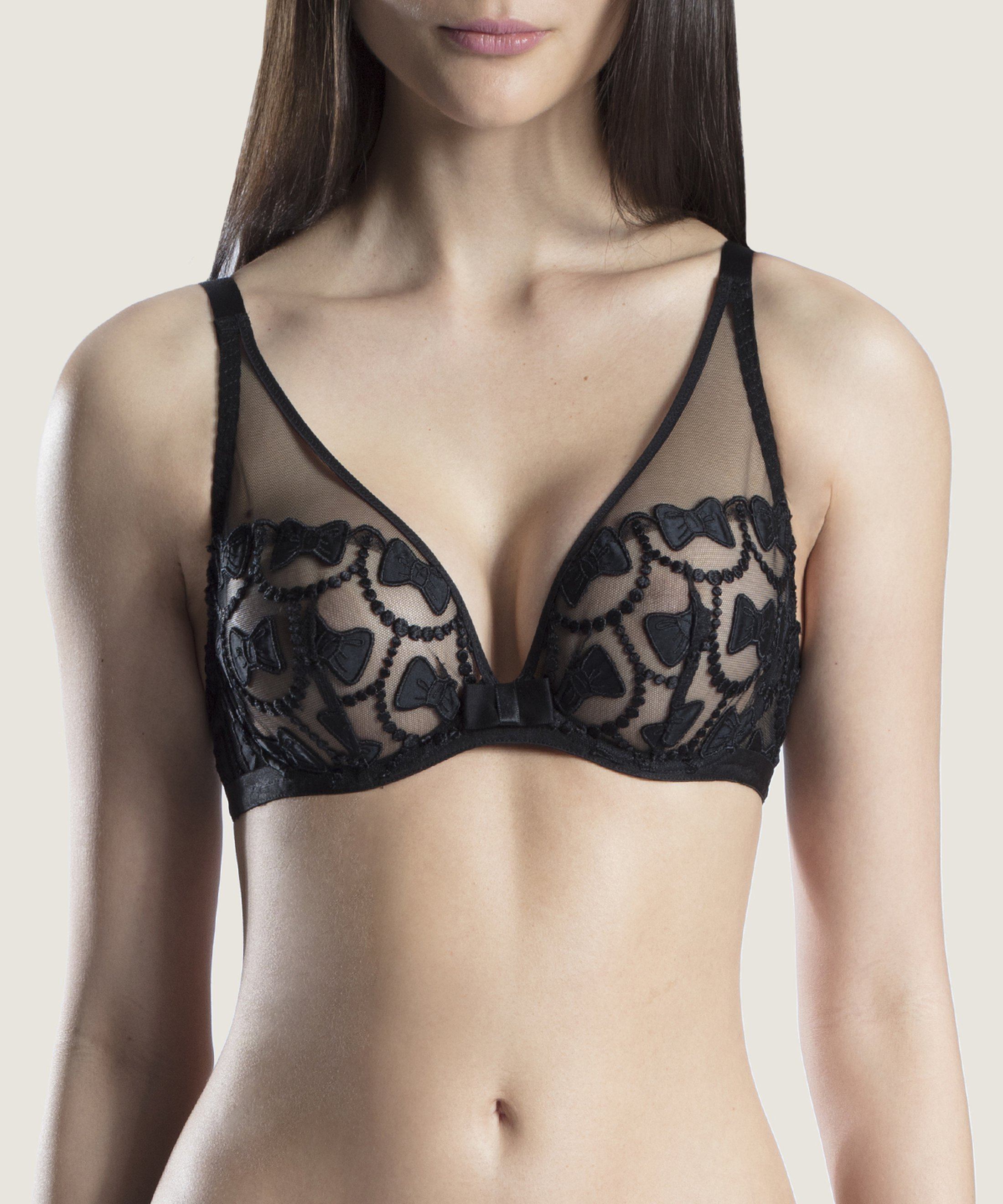 THE BOW COLLECTION Triangle plunge bra Soir | Aubade