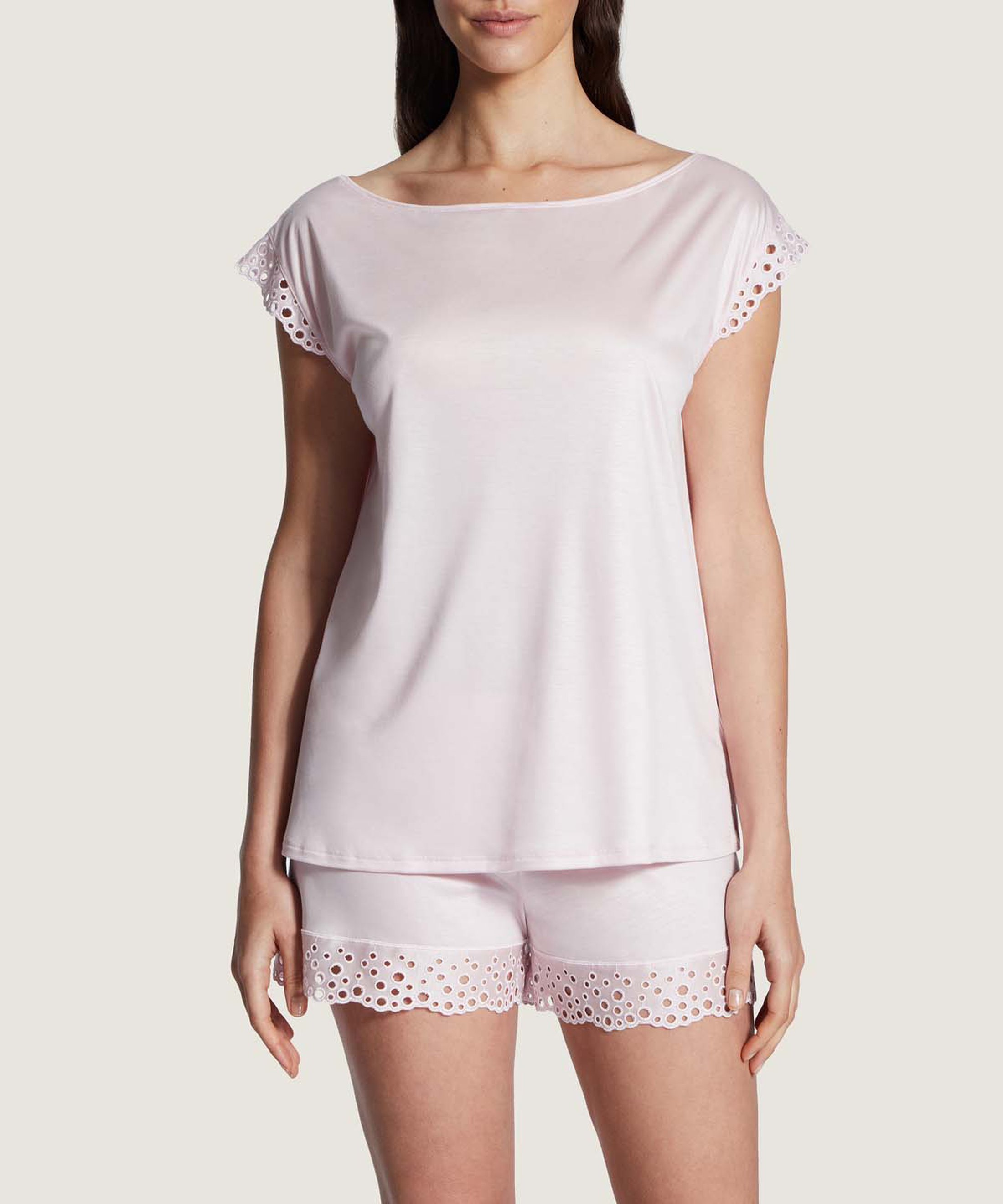 BULLE DE DOUCEUR Shorty en Tencel Rose pâle | Aubade